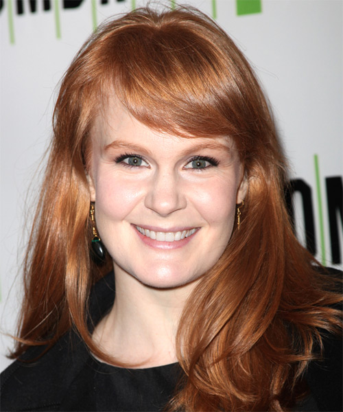 Kate Baldwin Long Straight Casual   Hairstyle