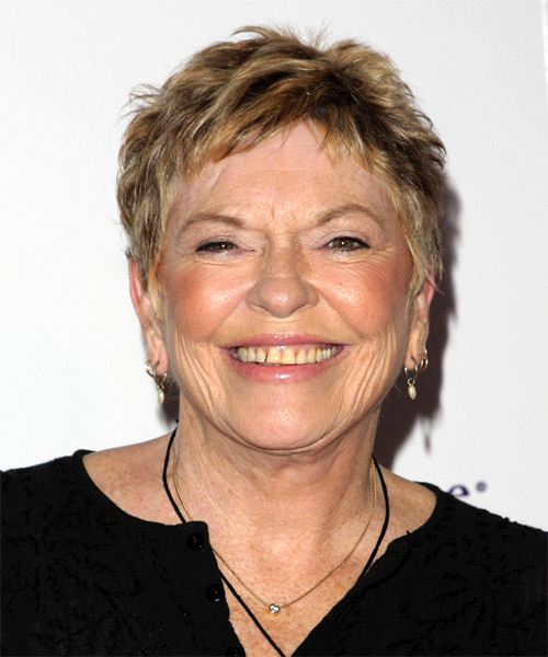 Linda Ellerbee Short Straight Casual    Hairstyle   -  Golden Blonde Hair Color