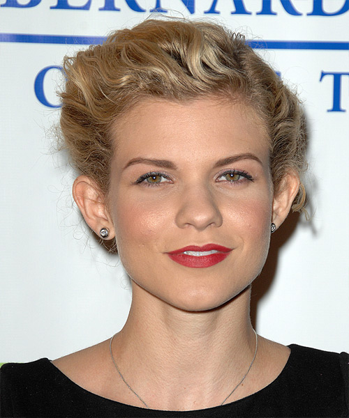 Angel McCord  Long Curly Casual   Updo Hairstyle   -  Blonde Hair Color