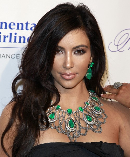 Kim Kardashian Long Wavy Formal   Hairstyle   (Mocha)