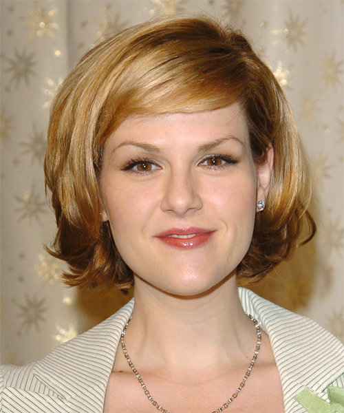 Sara Rue Medium Straight Formal    Hairstyle