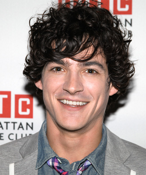 Aaron Michael Davies  Medium Curly Casual   Hairstyle