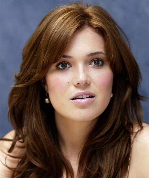 Mandy Moore Long Straight Casual   Hairstyle
