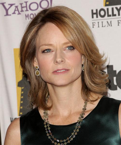 Jodie Foster Medium Straight Formal   Hairstyle