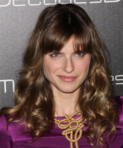 Lake Bell Long Wavy Casual   Hairstyle