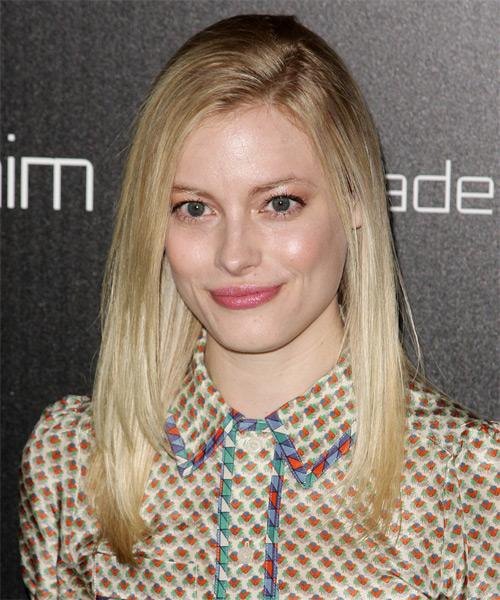 Gillian Jacobs  Long Straight Casual    Hairstyle   - Light Blonde Hair Color