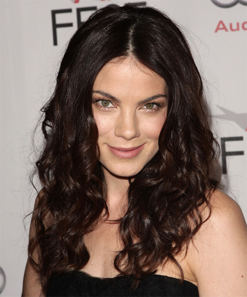 Michelle Monaghan Long Curly Casual    Hairstyle   - Dark Mocha Brunette Hair Color