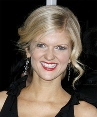 Arden Myrin  Long Curly   Light Salt and Pepper Blonde  Updo