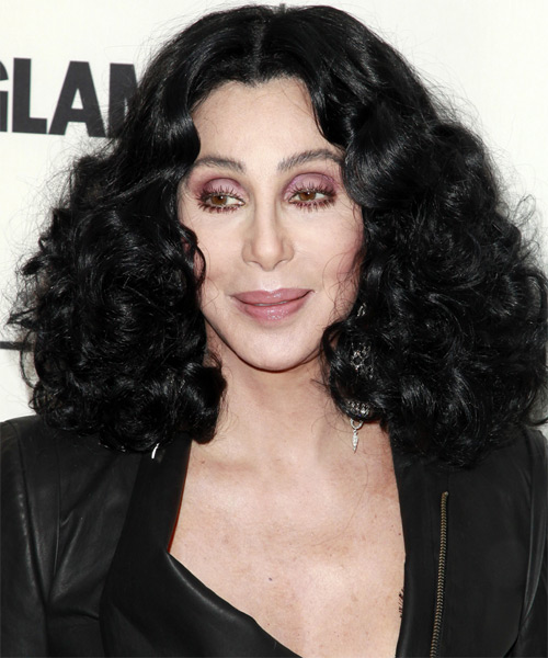Cher Medium Curly Casual   Hairstyle