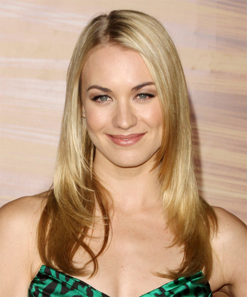 Yvonne Strahovski Long Straight Formal    Hairstyle   - Light Golden Blonde Hair Color