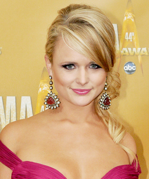 Miranda Lambert Updo Long Curly Formal  Updo Hairstyle