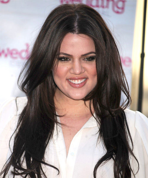 Khloe Kardashian Long Straight Casual   Hairstyle