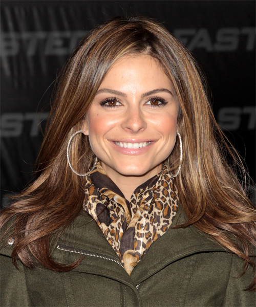Maria Menounos Long Straight Casual   Hairstyle