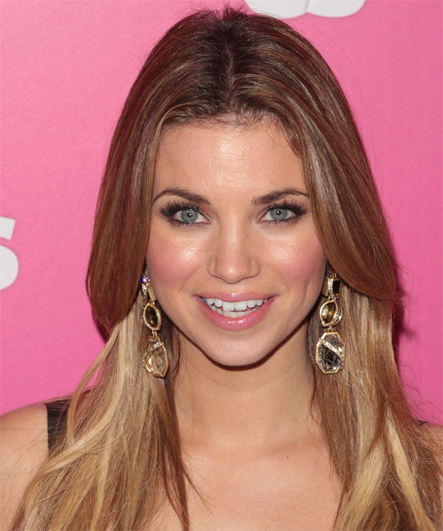 Amber Lancaster Long Straight Casual   Hairstyle
