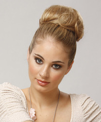 Long Straight Formal   Updo Hairstyle   -  Blonde Hair Color