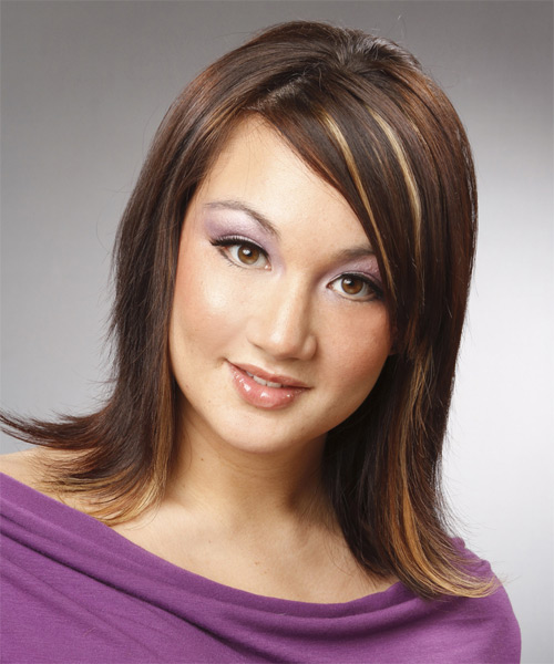 Medium Straight Formal   Hairstyle   - Medium Brunette (Chocolate)