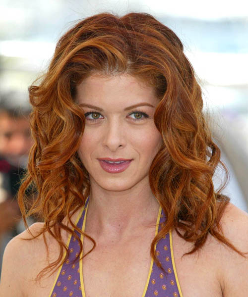 Debra Messing Long Wavy     Hairstyle