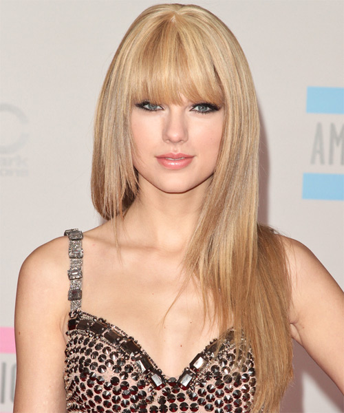 Taylor Swift Long Straight Blonde Hairstyle Pale Cool Skin Tone