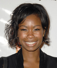 Tolula Adeyemi Short Wavy Casual    Hairstyle   - Black  Hair Color