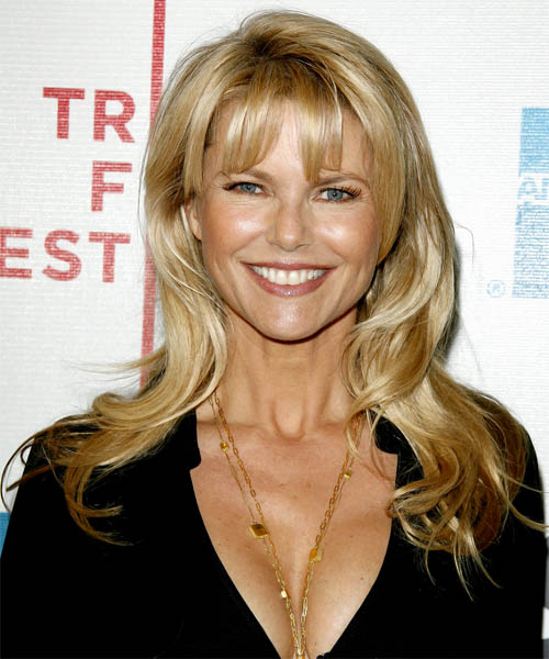Christie Brinkley Long Wavy Casual   Hairstyle   - Medium Blonde (Honey)