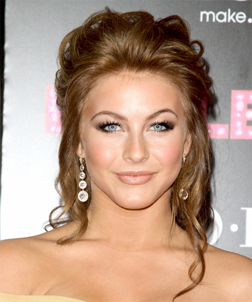 Julianne Hough Updo Long Curly Formal  Updo Hairstyle