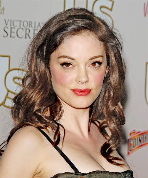 Rose McGowan Long Wavy Casual   Hairstyle