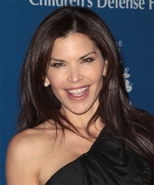 Lauren Sanchez Long Straight Casual   Hairstyle