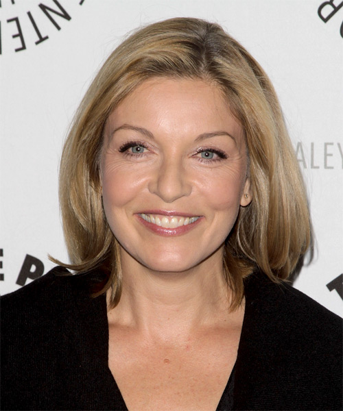 Sheryl Lee Medium Straight Casual   Hairstyle
