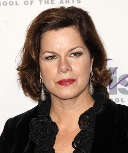 Marcia Gay Harden Medium Wavy Casual   Hairstyle