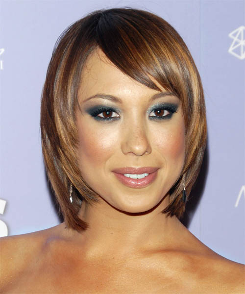 Cheryl Burke Medium Straight    Golden Brunette   Hairstyle