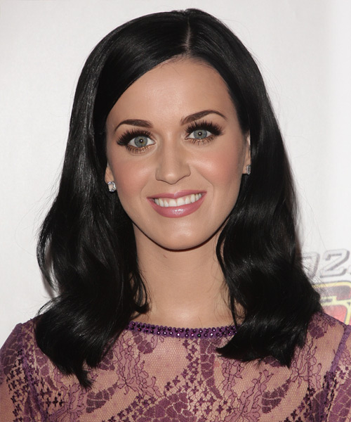Katy Perry Medium Straight Formal    Hairstyle   - Black  Hair Color