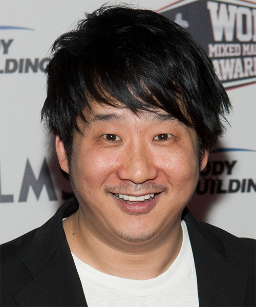 Bobby Lee Short Straight Casual   Hairstyle