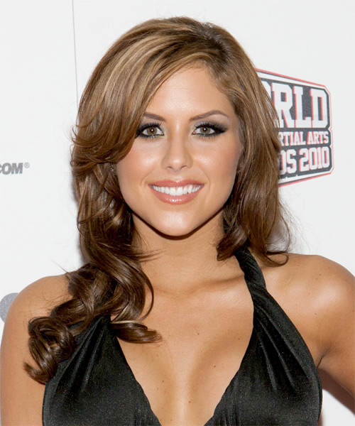 Brittney Palmer  Long Wavy Formal   Hairstyle