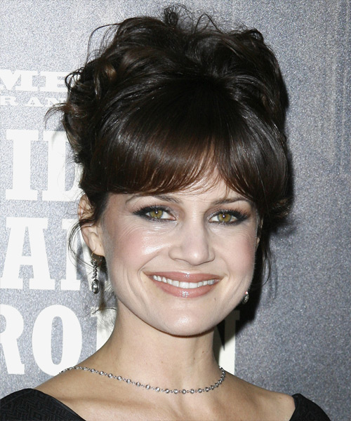 Carla Gugino Updo Long Curly Formal  Updo Hairstyle