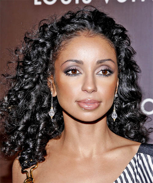 Mya Long Curly Hairstyle