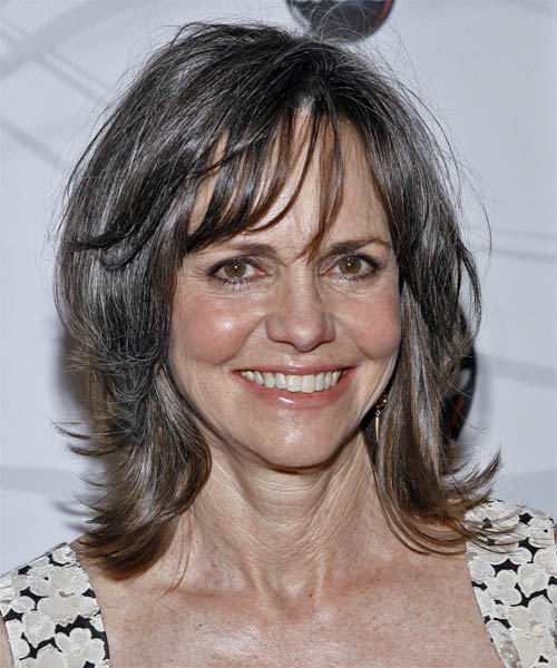 Sally Field Medium Straight Casual   Hairstyle