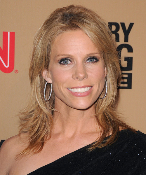 Cheryl Hines Medium Straight Casual Layered Bob  Hairstyle   - Light Blonde Hair Color