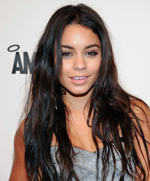 Vanessa Hudgens Long Straight Casual    Hairstyle   - Dark Brunette Hair Color
