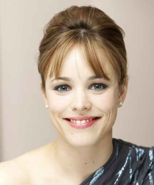 Rachel McAdams Updo Long Straight Formal Wedding Updo Hairstyle
