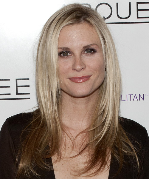 Bonnie Somerville Long Straight Formal   Hairstyle
