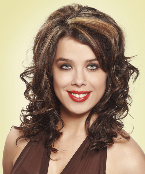 Long Curly Formal   Hairstyle   - Dark Brunette