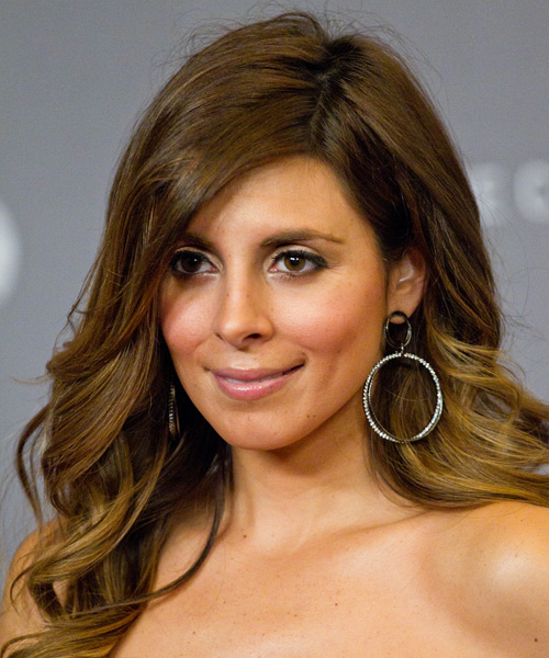 Jamie-Lynn Sigler Long Wavy Formal   Hairstyle