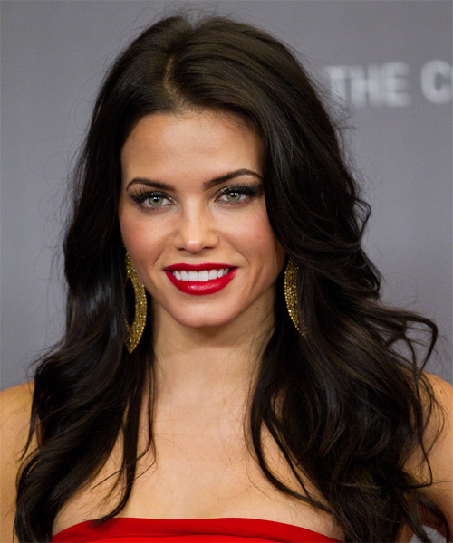 Jenna Dewan Long Wavy Casual    Hairstyle   - Dark Mocha Brunette Hair Color