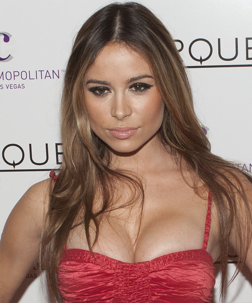 Zulay Henao Long Straight Casual Hairstyle