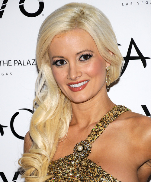 Holly Madison Long Wavy Formal   Hairstyle