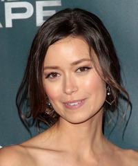 Summer Glau  Long Straight Casual   Updo Hairstyle   - Dark Brunette Hair Color