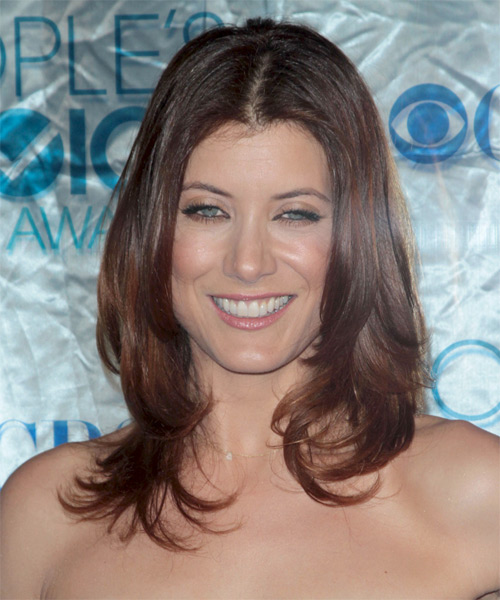 Kate Walsh Medium Straight Casual   Hairstyle