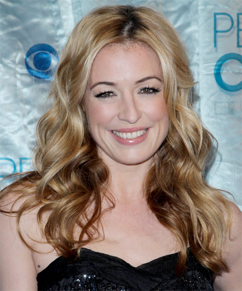Cat Deeley Long Wavy Casual   Hairstyle   - Light Blonde