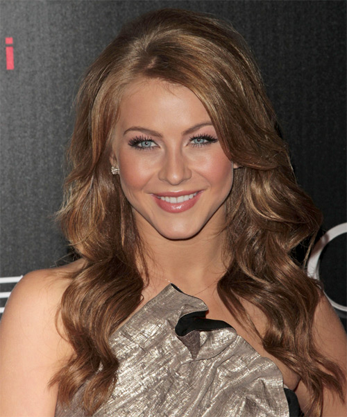 Julianne Hough Long Wavy Formal   Hairstyle   - Light Brunette