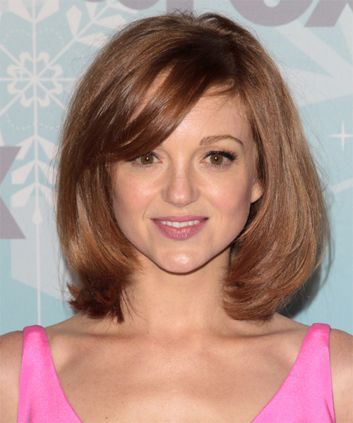 Jayma Mays Medium Straight Casual   Hairstyle   - Medium Brunette